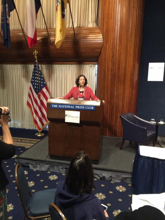 Barbara Rivera speaking at the BirthKeeper Summit in the National Press Club, Washington, DC.